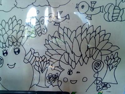 这是我们根据主题内容绘画的小树.