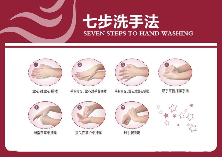 跟着老师一起来学学洗手七步法吧!