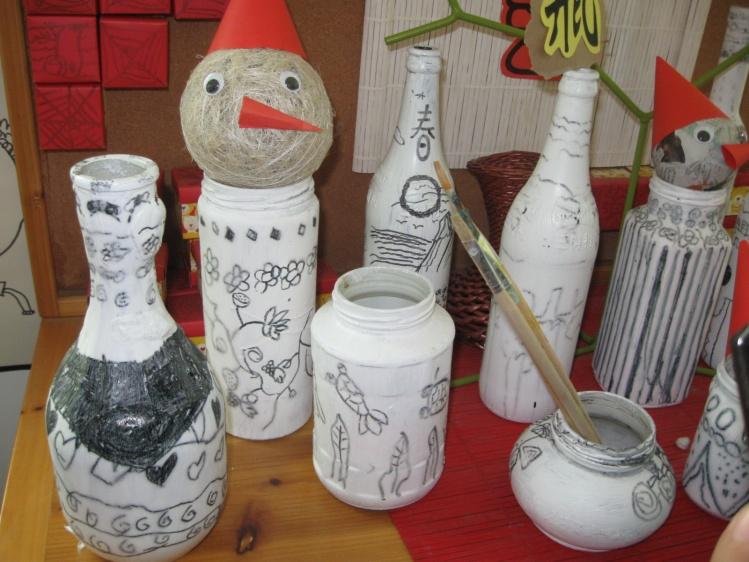幼儿园瓶子创意画步骤