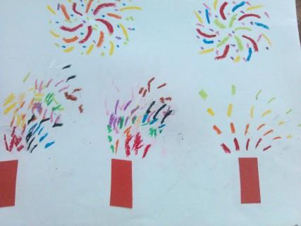 烟花怎么画简笔画图片
