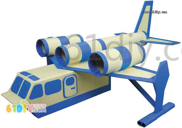 卫生纸筒手工制作飞机