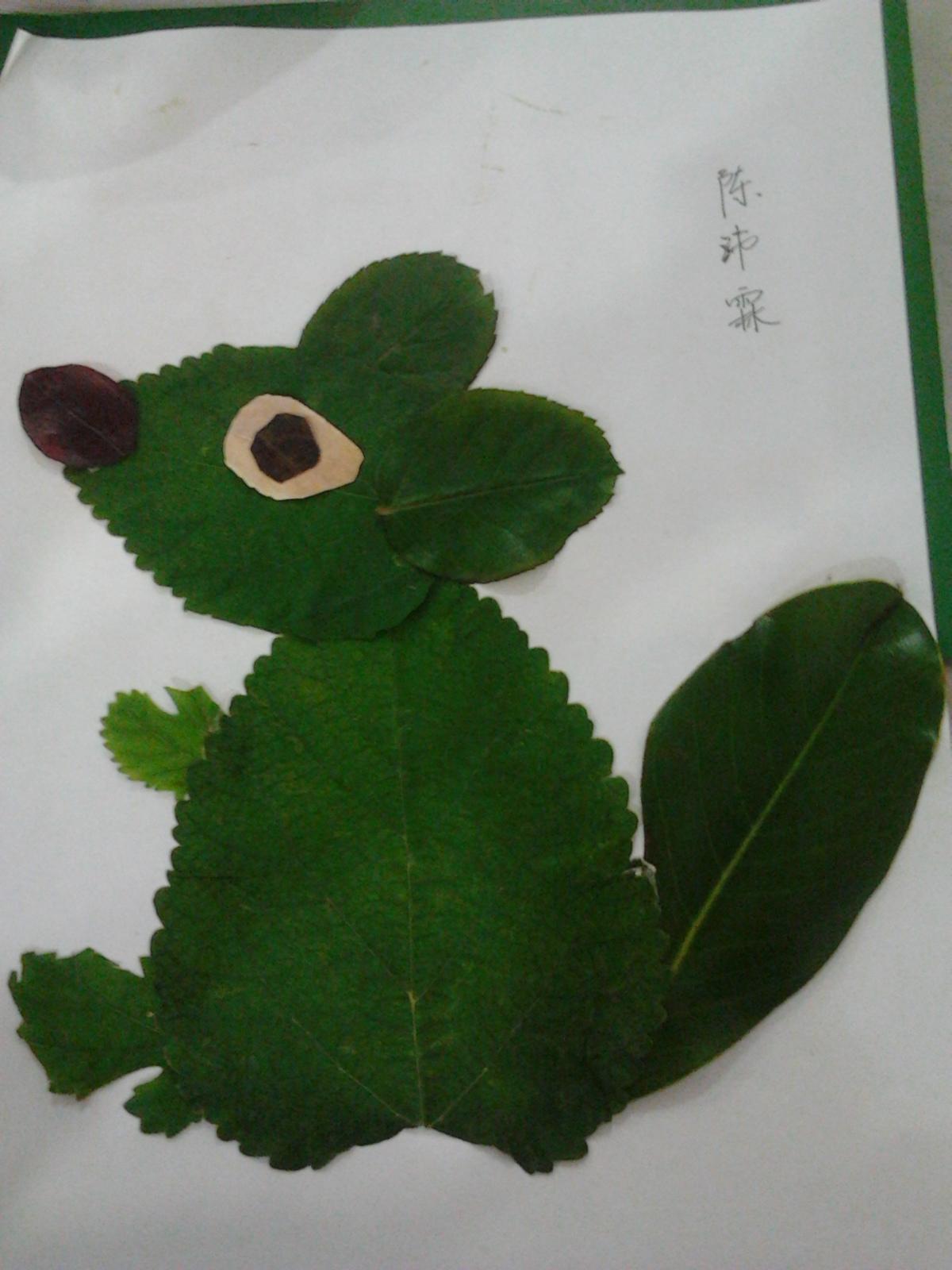 园所主页 海星一班 环保总动员  树叶贴画              发布时间