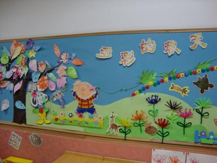 百度一下小班班级墙面字母的设计图展示