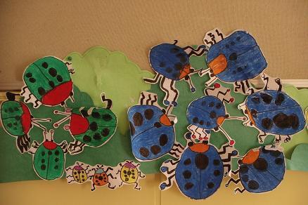 这些可爱的小瓢虫,都是我们宝宝自己画出来的