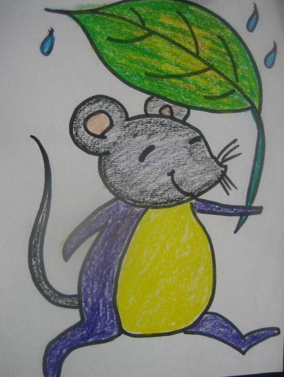 """朱泾健康路幼儿园; 小刺猬捡起一片树叶,""""这是我的帽子; 刺猬树叶画"""