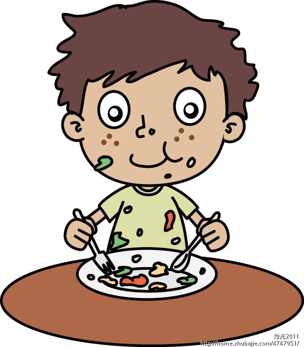 吃饭卡通图片