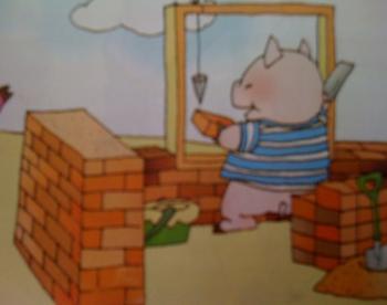 5.13 三只小猪造房子图片