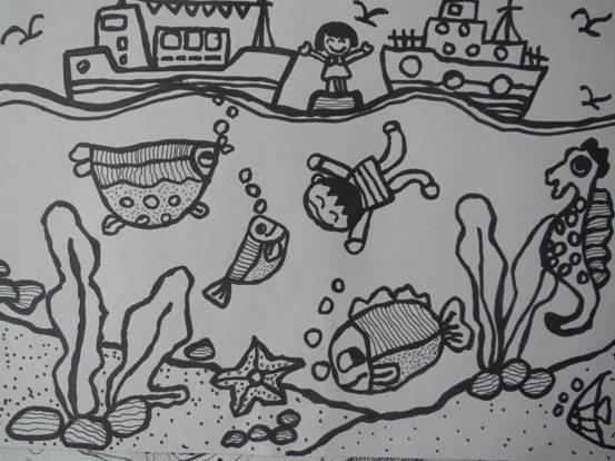 园所主页 幼儿作品 绘画作品  海底遨游                  发布时间