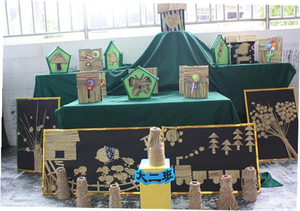 """铜管创意"""";用稻草制作的精致的作品等,充分体现了幼儿的聪明图片"""