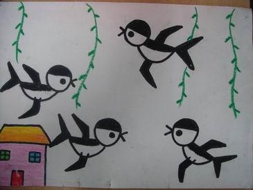 春天来了,小燕子也飞来了
