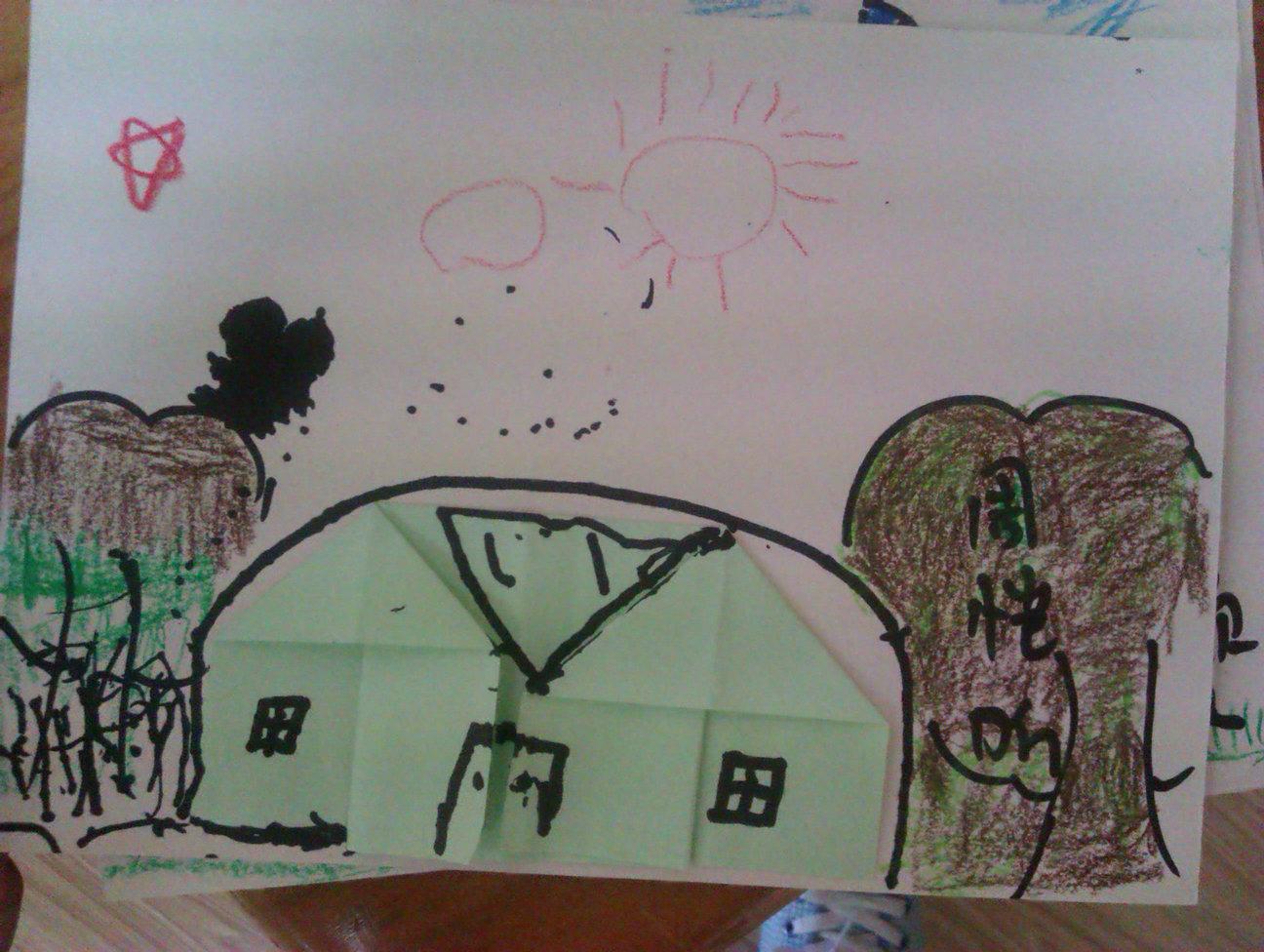 儿童我爱祖国描线画图片大全