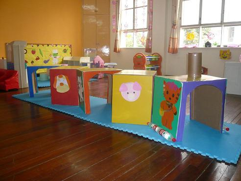 幼儿园美发屋区角布置分享展示