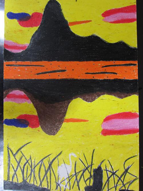 教師考級美術蠟筆畫