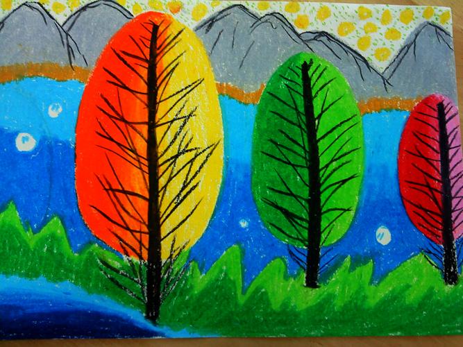 幼儿园蜡笔画教师范画
