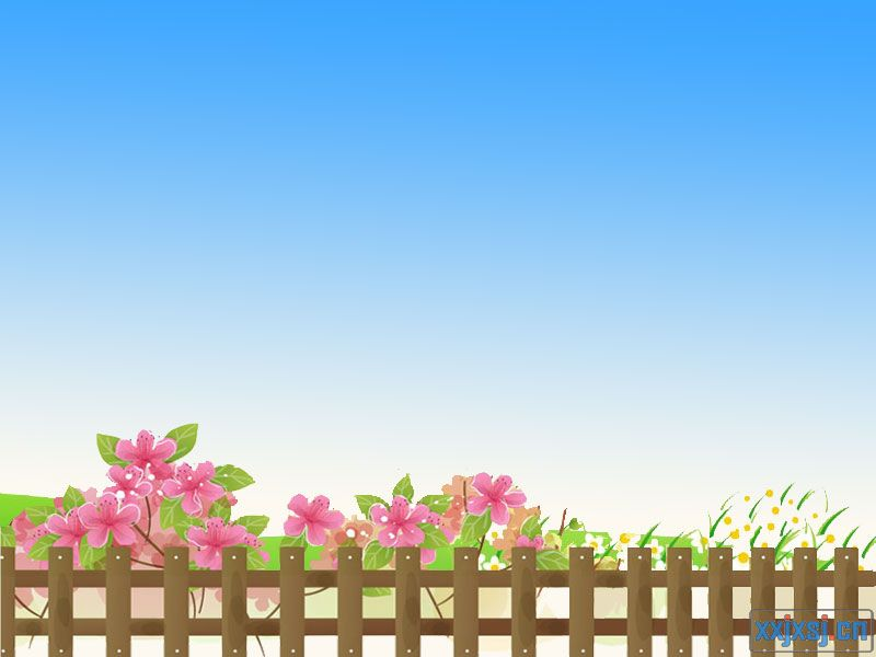篱笆喇叭花简笔画