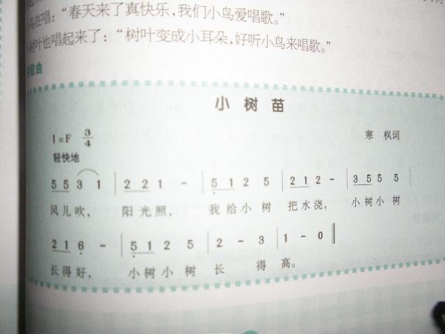 园所主页 小五班 幼儿教育 学习天地  歌曲:小树苗              发布