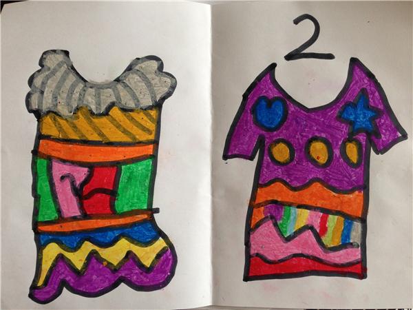 幼儿叠衣服单个步骤图