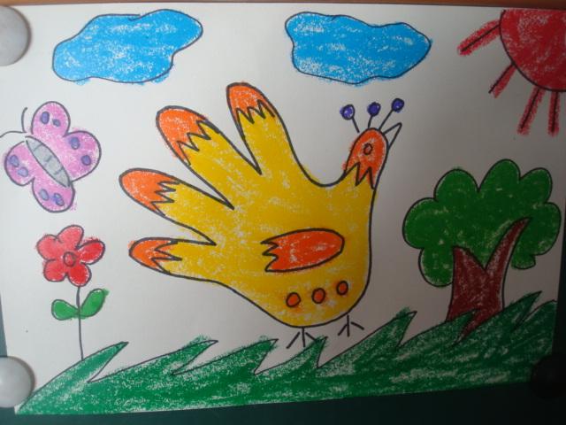 指画--秋天的大树_手印画 手印画-犀牛 手印画+_+红黄蓝|早教|早教中心