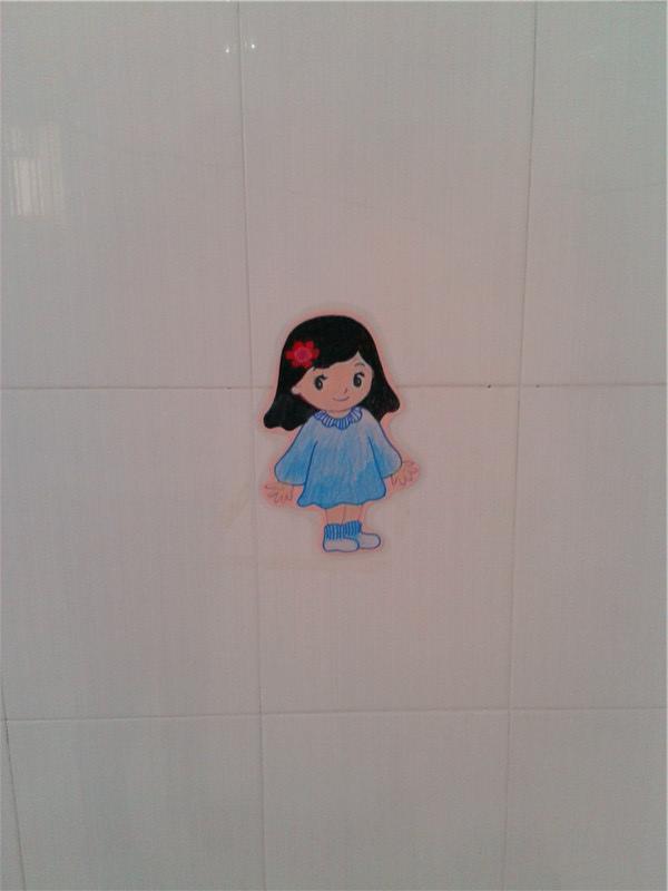 洗手间里有许多好朋友,这些好朋友是各种各样的标志图案,能告高清图片