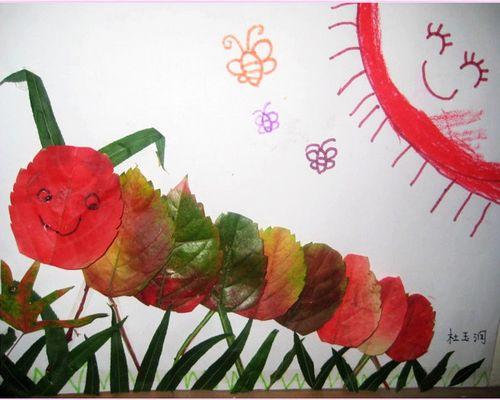 树叶制作的孔雀 树叶画制作孔雀开屏 树叶手工制作孔雀开屏