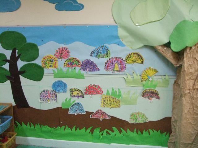 用来布置《在动物园里》的主题墙