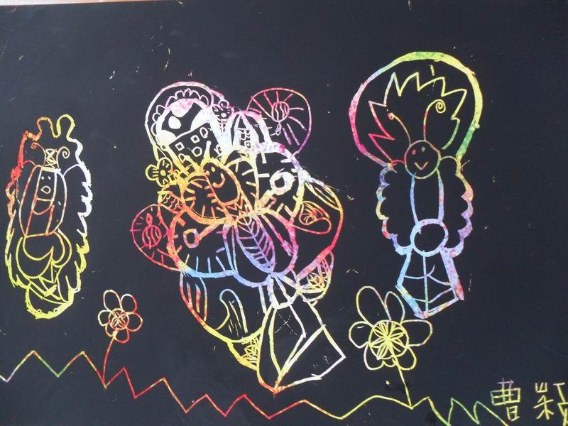 小朋友學畫畫葡萄
