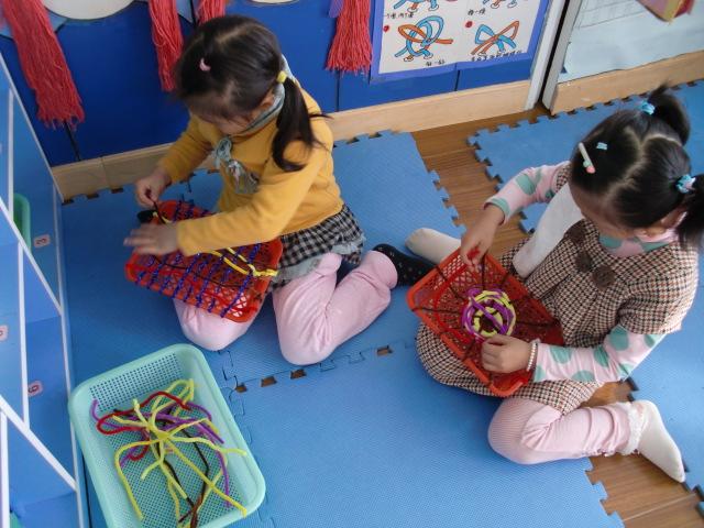 幼儿园织网步骤
