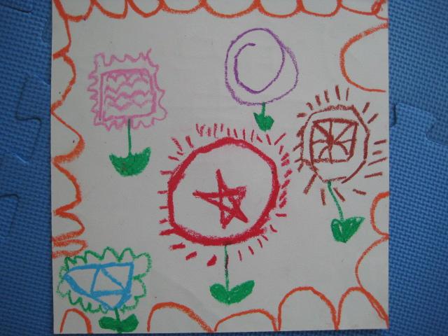 幼儿园花朵画画图片