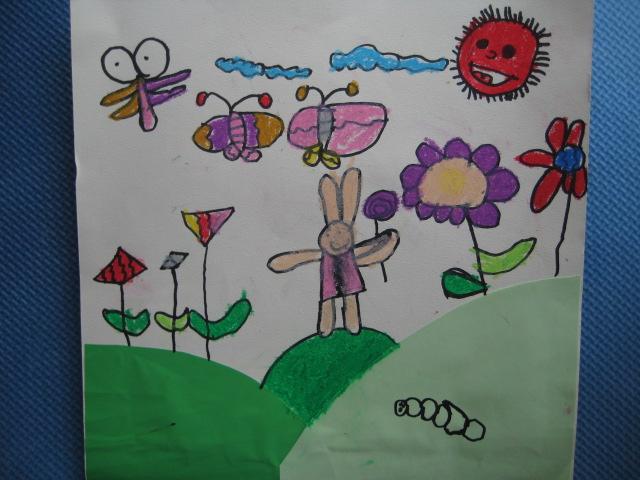 小花园儿童画分享展示图片