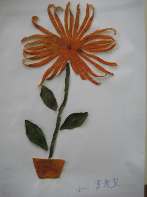 小朋友的橘皮贴画