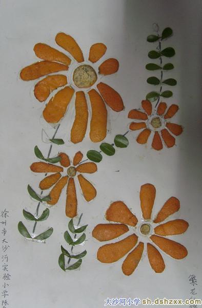 幼儿橘子皮贴画