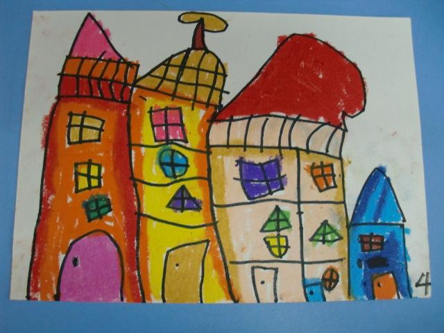 幼儿园三角形房子简笔画