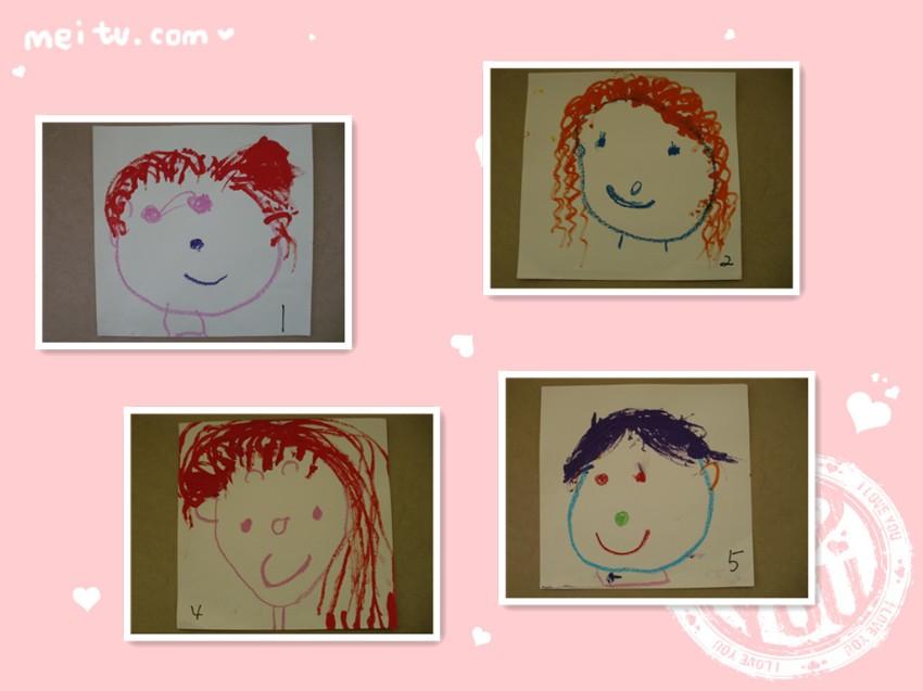 本次活动的目的是:画画自己的妈妈,并尝试用(波浪线,直线,曲线等)线条