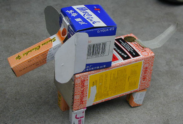 园所主页 大一班 主题进行时  纸盒制作小动物2            发布时间