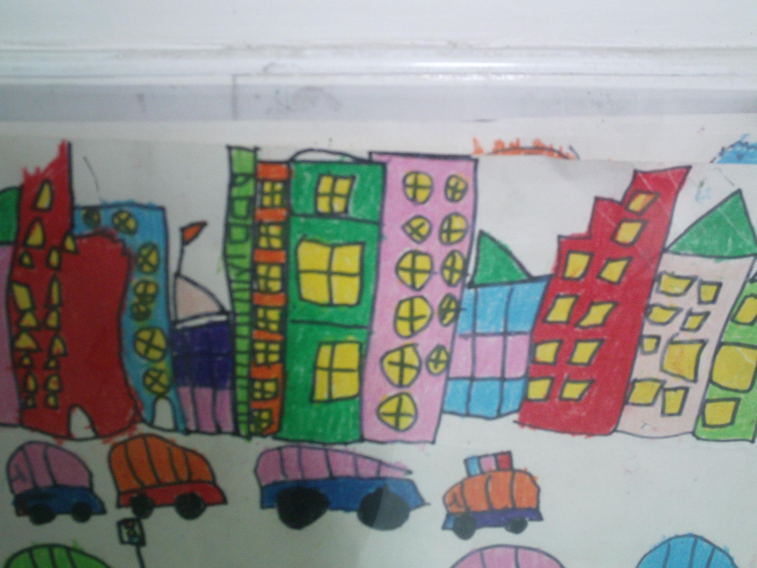 幼儿园毕业黑板报简笔画
