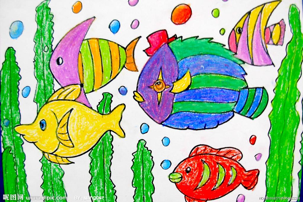 儿童画海底世界图片大全