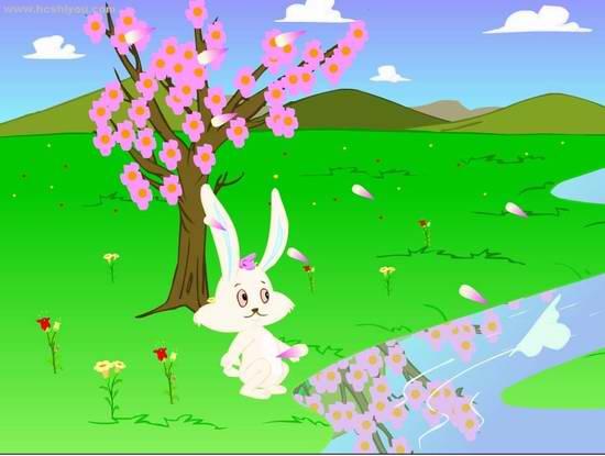 说:我们要去小白兔的家!