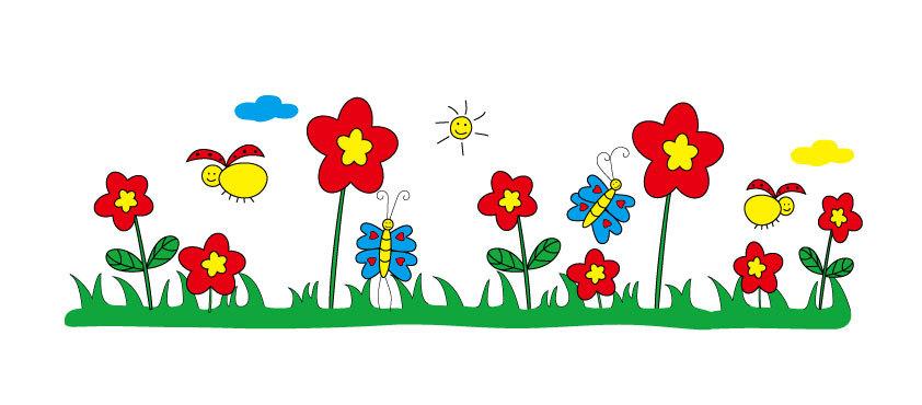 卡通春天的景色