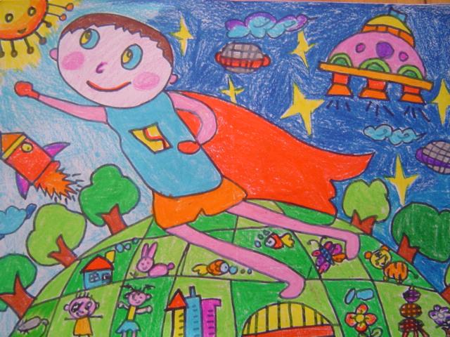 七宝中心幼儿园2010年幼儿航空科幻画作品图片