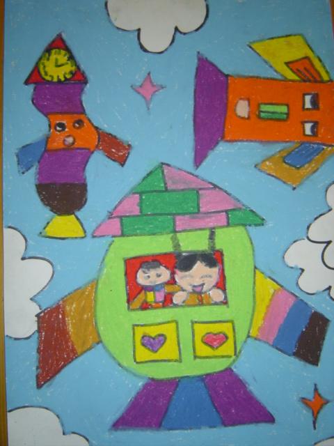10年幼儿航空科幻画作品 -详情页 上海市闵行区七宝中心幼儿园