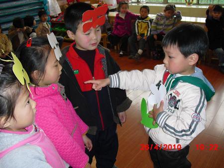 幼儿园大红花叶子步骤图片