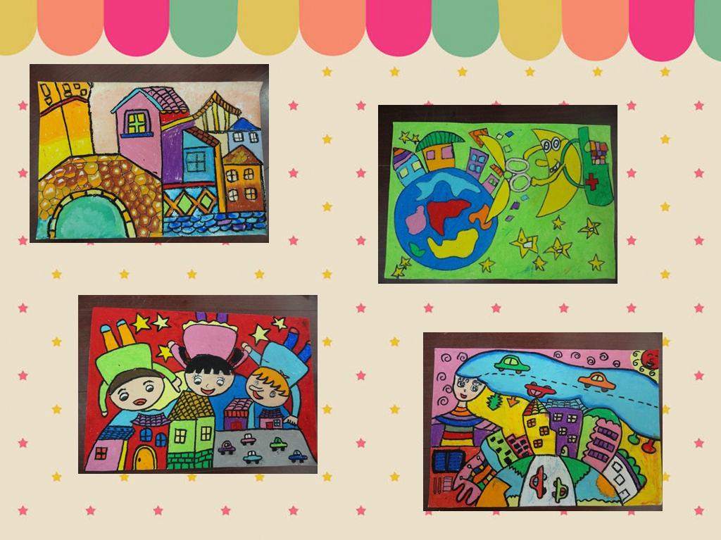 """组举办""""杜绝违法建筑 保护美丽家园""""儿童绘画比赛"""