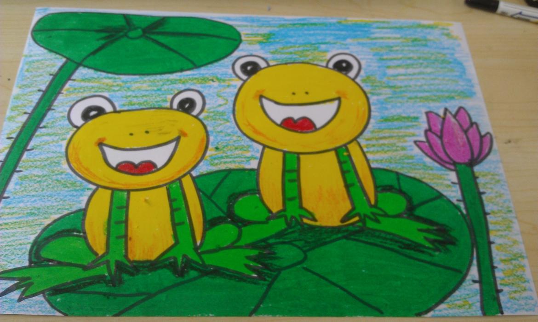 《小刚变成青蛙的》关于蝌蚪变儿童简笔画幼儿简笔画青蛙与小蝌蚪变简