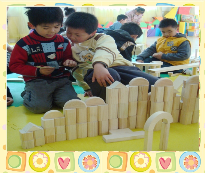 幼儿小班建筑区图片