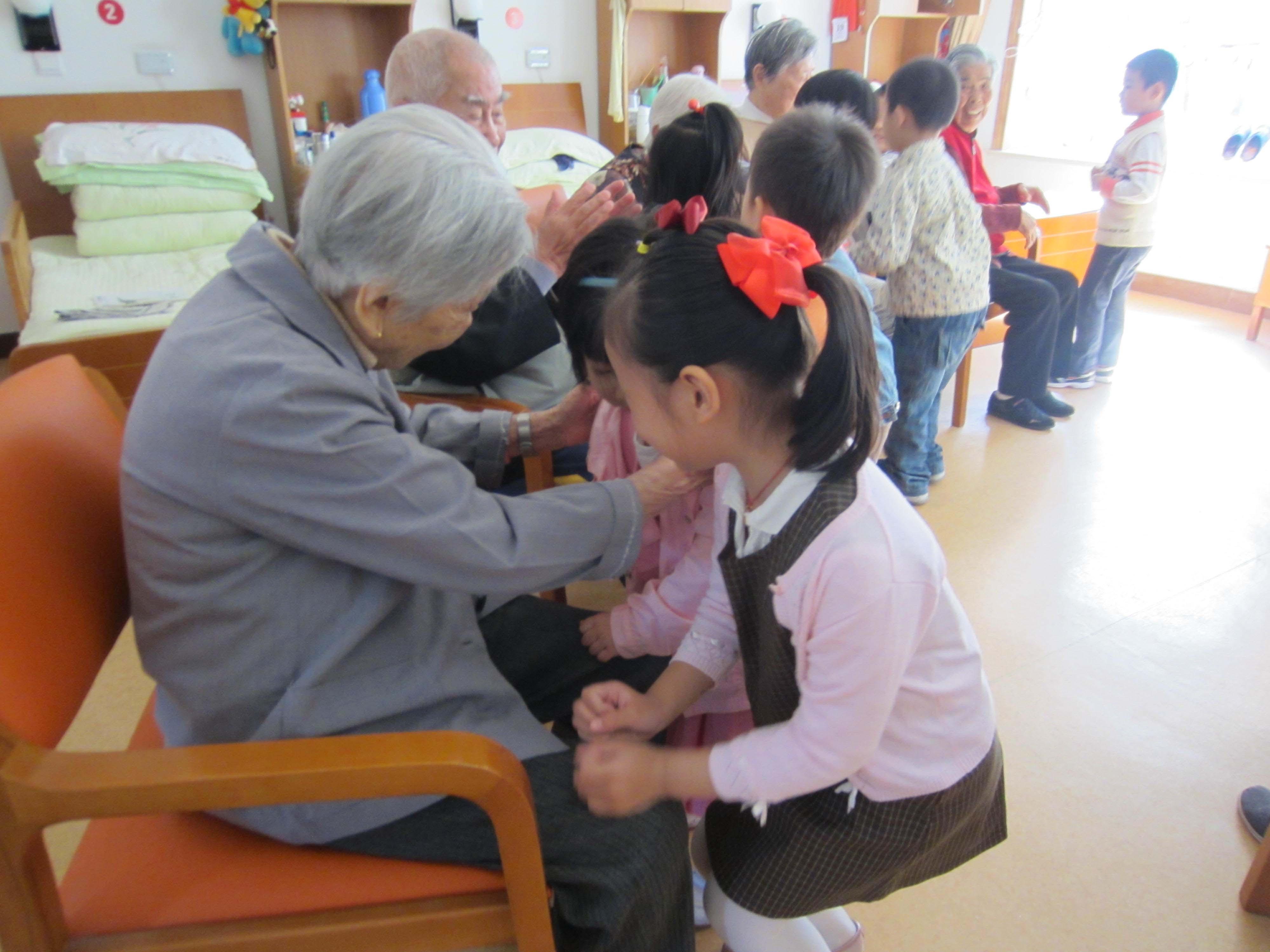上钢新村幼儿园中班重阳节活动