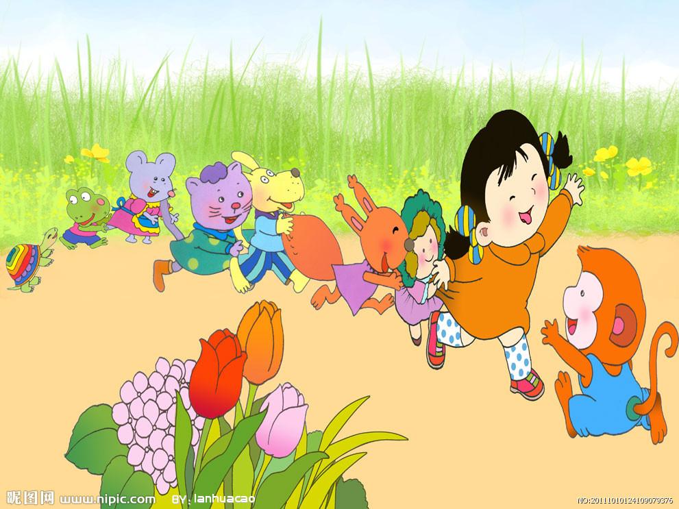 卡通幼儿园值日