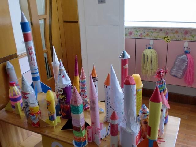 幼儿园手工制作大全火箭