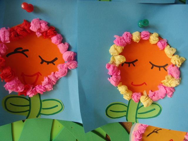 用卡纸条编织小花篮,让幼儿园春季不再单调!