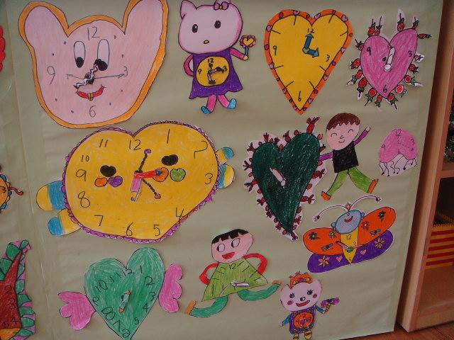 园所主页 班级主页 大一班 苗苗之家  三,设计制作钟表:幼儿创作设计
