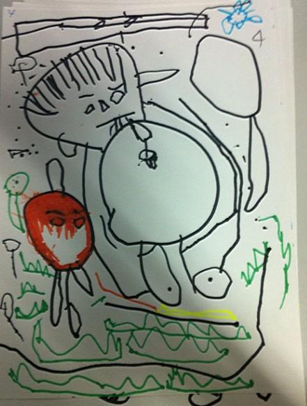 小班幼儿在绘画线条的练习中已经非常熟悉了
